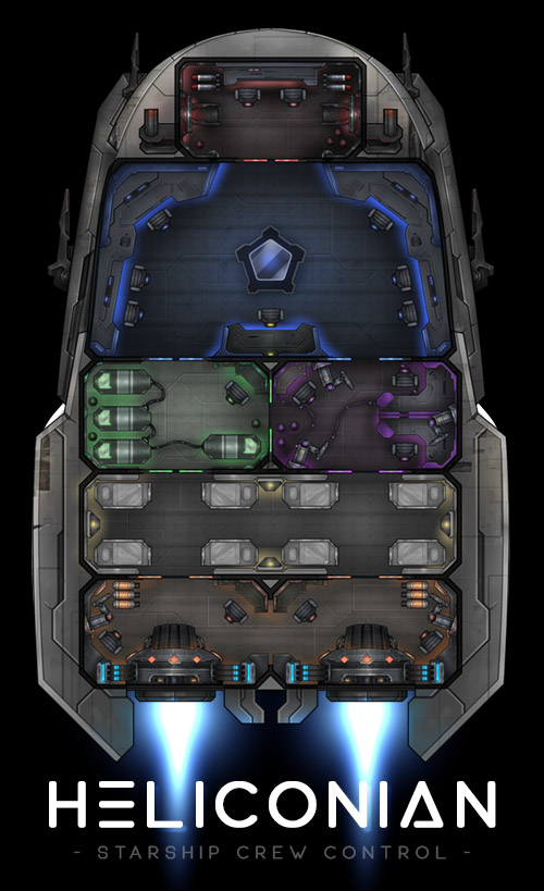The final design of the Heliconian spaceship